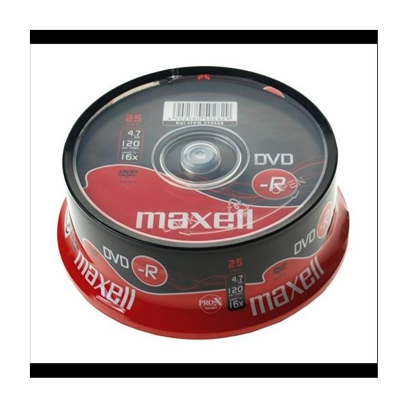 MAXELL DVD-R 4.7 16x 25pack 275520