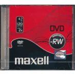 MAXELL DVD-RW 4.7GB 1 db normál tok 275524
