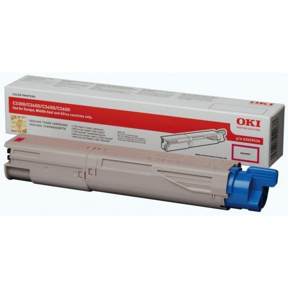 OKI 43459330 Toner Magenta C3300, C3400 1500 oldal