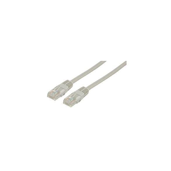 CAT5e UTP szerelt kábel 0.25 m szürke