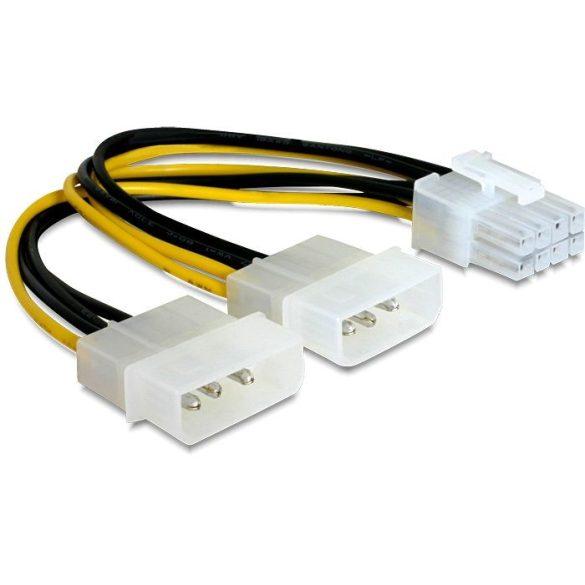DELOCK elosztó kábel, 2xMolex--1x PCI Express 8pin 82397