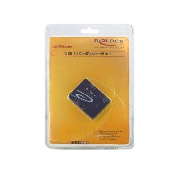 DELOCK Memórikártya olvasó ALL IN 1 USB 2.0