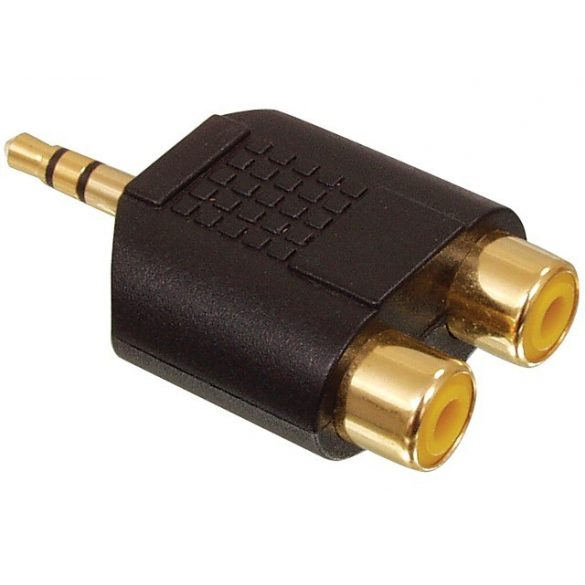 HQ 3.5mm JACK / 2x RCA átalakító GOLD AC-010GOLD
