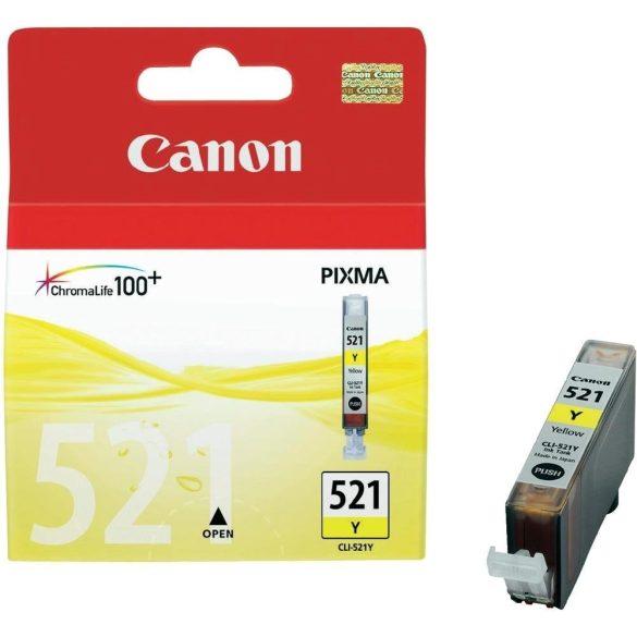 CANON (521) gyári Yellow patron CLI-521Y / 9 ml /