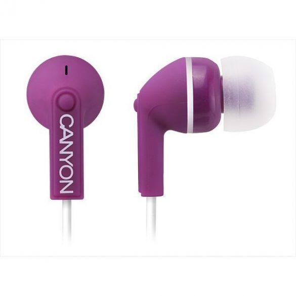 CANYON Fülhallgató CNS-CEP01P lila