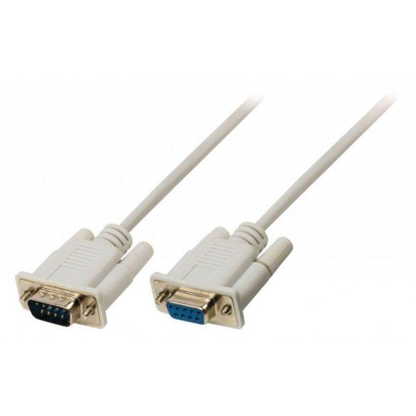 VALUELINE D-Sub 9 Pin M D-Sub 9 Pin F kábel 2m VLCP52010I20