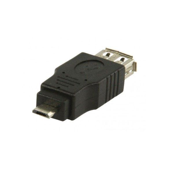 VALUELINE USB 2.0 USB A aljzat – USB mikro B dugasz adapter VLCP60901B